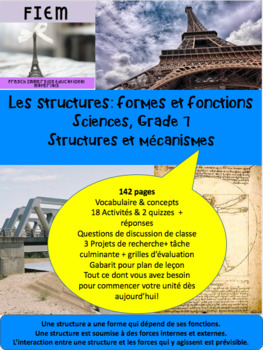 French: Les structures: Formes et fonctions, Sciences, Gr.7, 142  slides