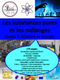 """French: """"Les substances pures et les mélanges"""", Sciences,"""