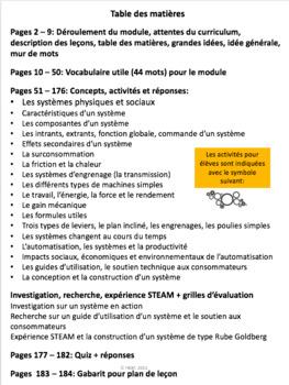 "French: ""Les systèmes en action"", Sciences, Grade 8, 123 slides"