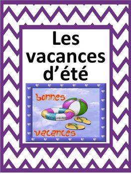 French: Les vacances d'été, Cartes éclairs, Core French & French Immersion