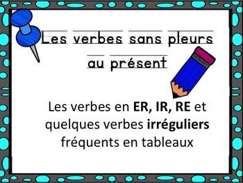 French: Les verbes en er, ir, re, Cartes éclairs, Core Fre