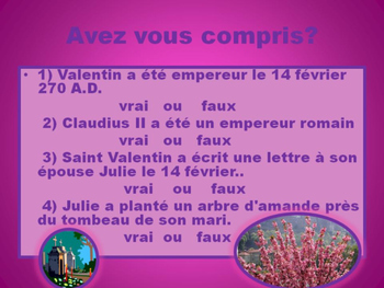 French: La Légende de Saint Valentin
