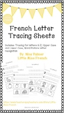 French Letter Tracing Sheets