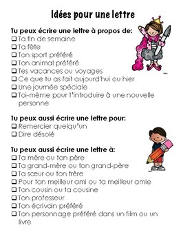 French Letter Writing- Ecrire une lettre