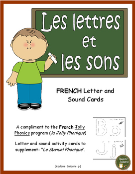 "French Letter and Sound cards (compliments ""Le Manuel Phonique"")"