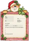 French Letter to Santa enveloppe