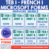 French Level 1 Distance Learning - MICROSOFT FORMS T'es br