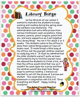 French Library Bingo