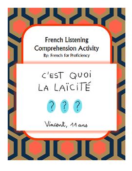 French Listening Comprehension Activity for 1jour1actu video: La Laïcité