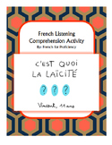 French Listening Comprehension Activity for 1jour1actu vid