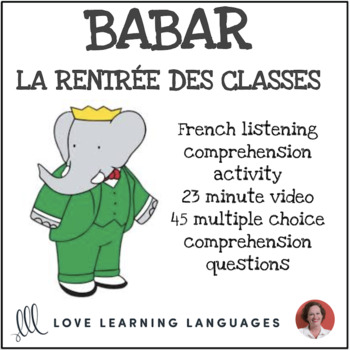 French Listening Comprehension -La Rentrée des Classes - C