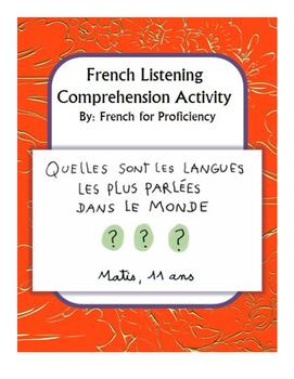 French Listening Comprehension for 1jour1actu video: les langues