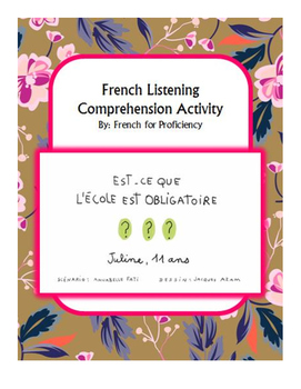 French Listening Comprehension for 1jour1actu video: l'école obligatoire