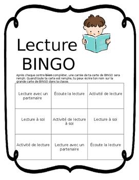 French Literacy Centres Tracking - BINGO Program