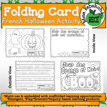 French Literacy Halloween Theme Activity