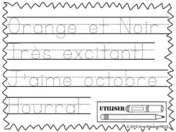 French Literacy Halloween Theme Printables Activity