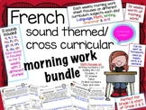French Long Distance Literacy & Math Morning Work & Cross