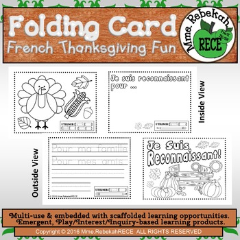 French Literacy Thanksgiving Theme Activity