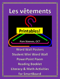 "French Literacy and Math Unit, ""Les vêtements"""