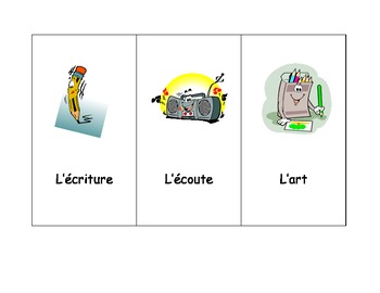 French Literacy/Reading Centers Signs