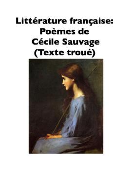 French Literature: Poèmes de Cécile Sauvage (Texte troué)