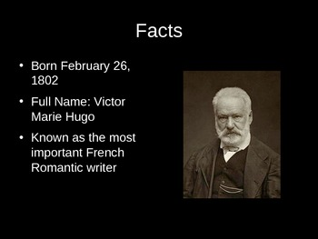 French Literature and History Victor Hugo PowerPoint