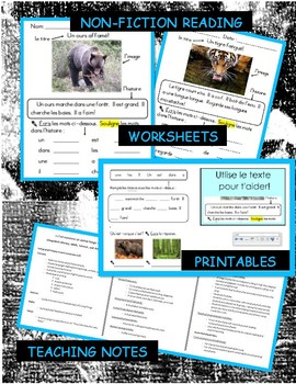 French Living Things & Sorting Integrated Unit, Printable Resources, Worksheets