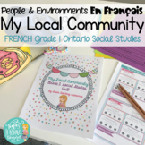 French Local Community & Community Helpers: Grade 1 Ontario Social Studies