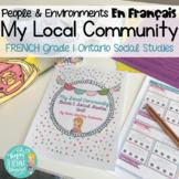 French Local Community & Community Helpers: Grade 1 Ontari