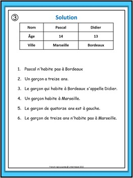 French Logic Puzzles