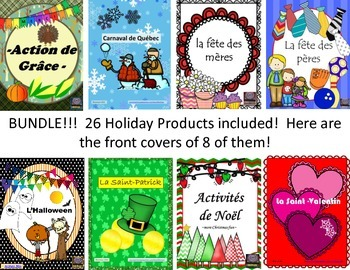 French – MEGA Holiday BUNDLE