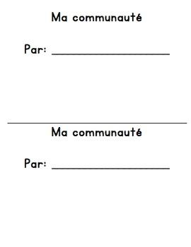 "French ""ma communauté"" mini book - cut, paste, colour"