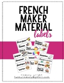 French Maker Space Materials Labels word