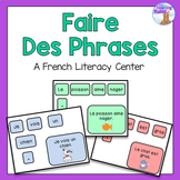 French Making Sentences Center (Faire Des Phrases)