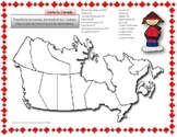 French ~ Map Of Canada ~ Carte Du Canada (Provinces et Ter