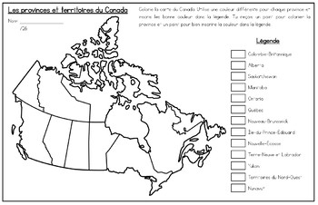 French Map Of Canada With Provinces And Capitals.French Map Of Canada And Capitals La Carte Du Canada Et Les Capitales