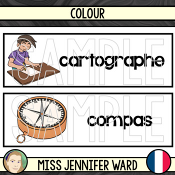 French Mapping Skills Word Wall
