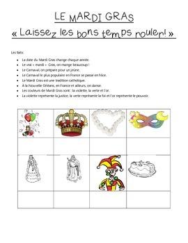 Le Mardi Gras : En Francais