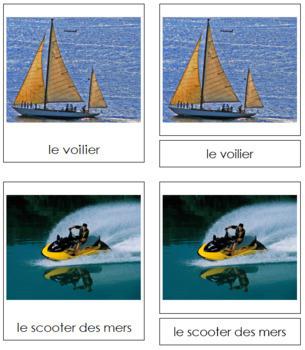 French - Marine Transportation Cards