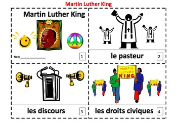 French Martin Luther King 2 Emergent Reader Booklets