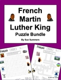 French Martin Luther King Day Bundle-Word Search, Crossword, and Vocabulary-MLK