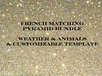 French Matching Pyramid Bundle Weather and Animal Words