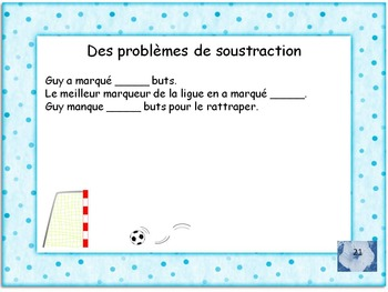 French Math 1-100 addition & subtraction, word problems