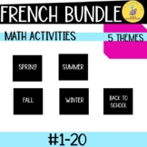 French Math Activities SEASONS +1 BUNDLE I Les Nombres