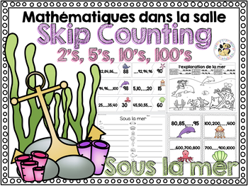 French Math Around the Room: Skip Counting