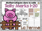 French Math Around the Room: Tally Marks