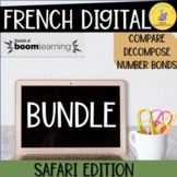 French Math Boom Cards I French Math Compare and Decompose Bundle