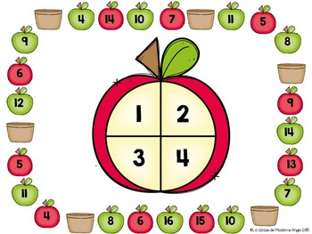 French Math Centers:  Numbers to 20 - les nombres 1 à 20