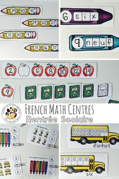 French Math Centres Bundle