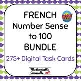 French Math Centres - Les Nombres à 100 BOOM cards / Number Sense